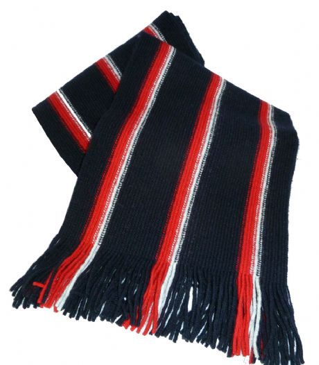 The Royal Navy - Service colours woollen knitted scarf for the senior service. Keep warm this winter with this top quality royal navy scarf